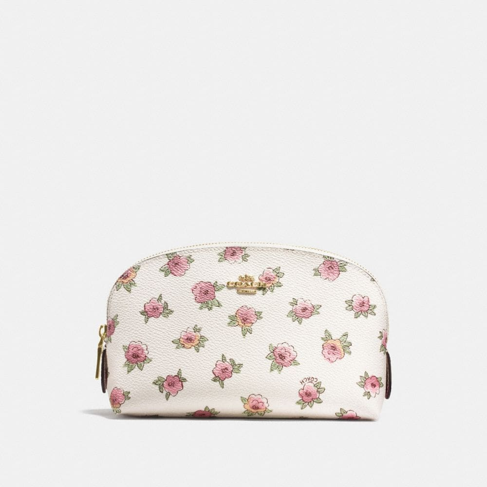 Coach Cosmetic Case 17 With Flower Patch Print