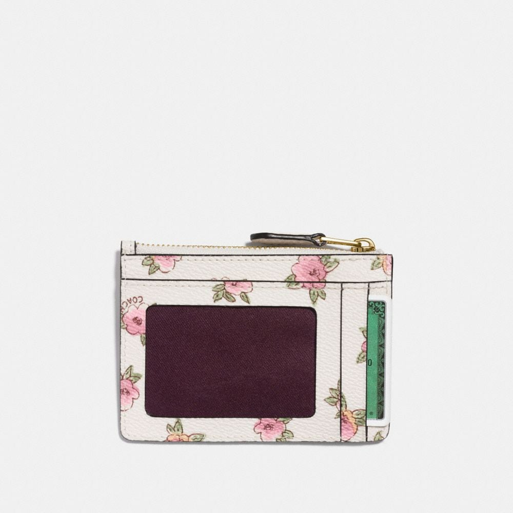 Coach Mini Skinny Id Case With Flower Patch Print Alternate View 1
