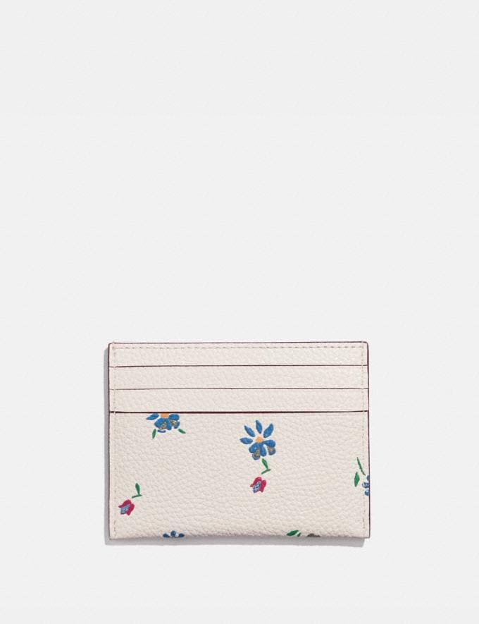 Coach Card Case With Wildflower Print Pewter/Chalk Gifts For Her Under $100 Alternate View 1
