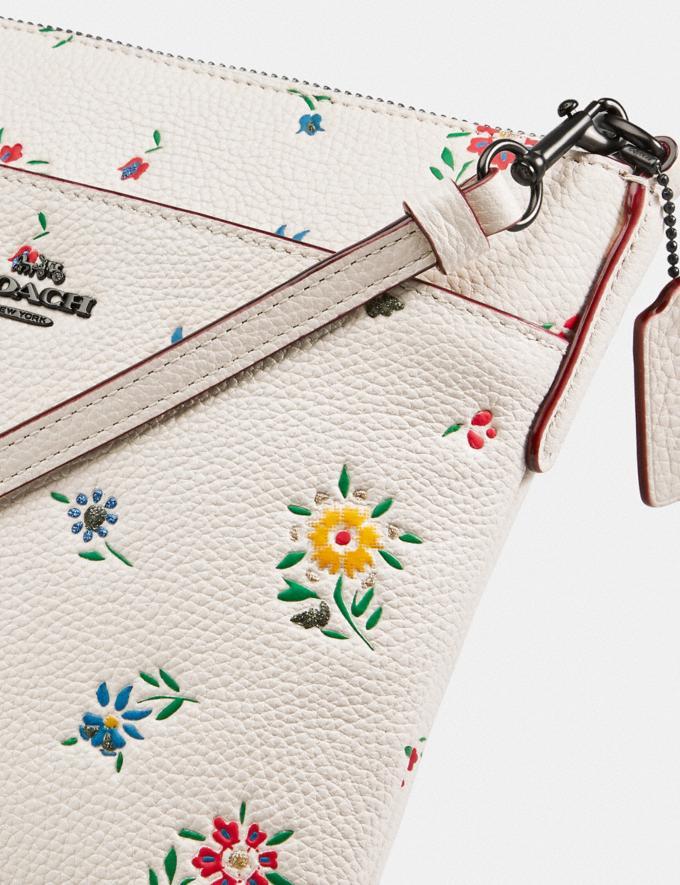 Coach Kitt Messenger Crossbody With Wildflower Print Pewter/Chalk Women Handbags Alternate View 4