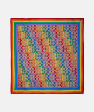 RAINBOW SIGNATURE SILK BANDANA