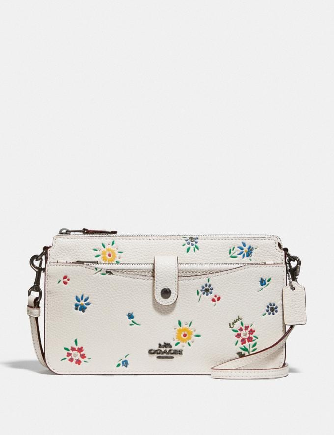 Coach Noa Pop-Up Messenger With Wildflower Print Pewter/Chalk Women Accessories