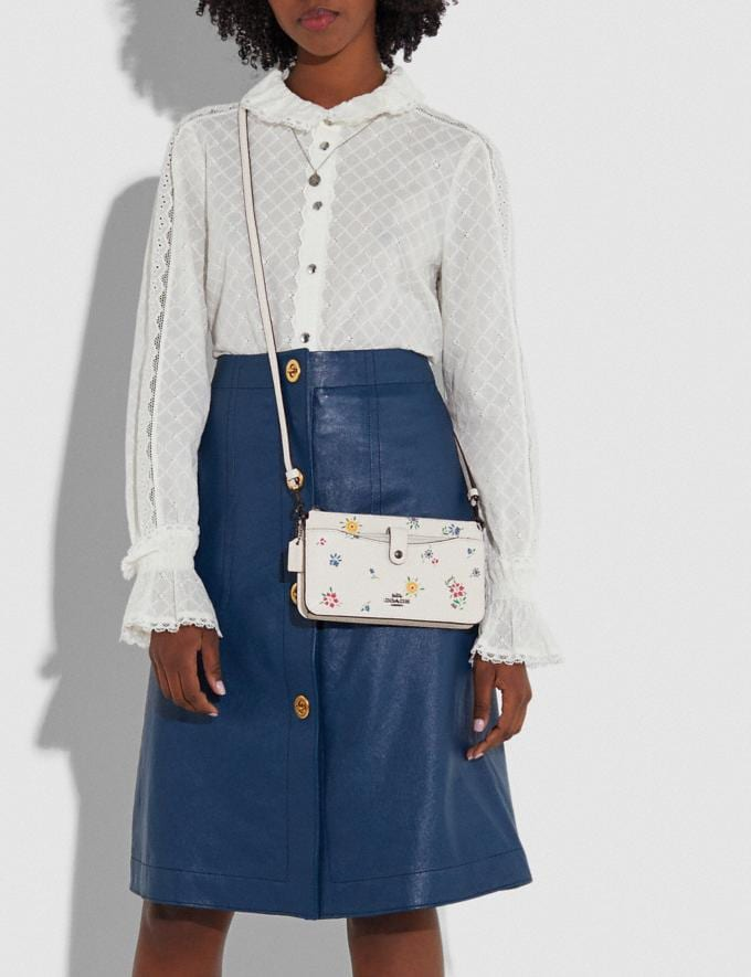 Coach Noa Pop-Up Messenger With Wildflower Print Pewter/Chalk New Women's New Arrivals Bags Alternate View 2