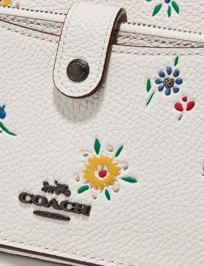Coach Noa Pop-Up Messenger With Wildflower Print Pewter/Chalk Women Accessories Alternate View 3
