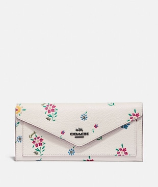 SOFT WALLET WITH WILDFLOWER PRINT