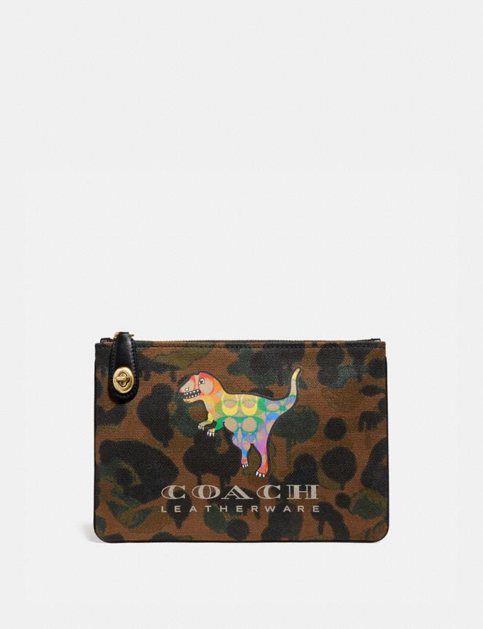 Coach Turnlock Pouch 26 With Rainbow Signature Rexy B4/Multi Women Bags Mini Bags