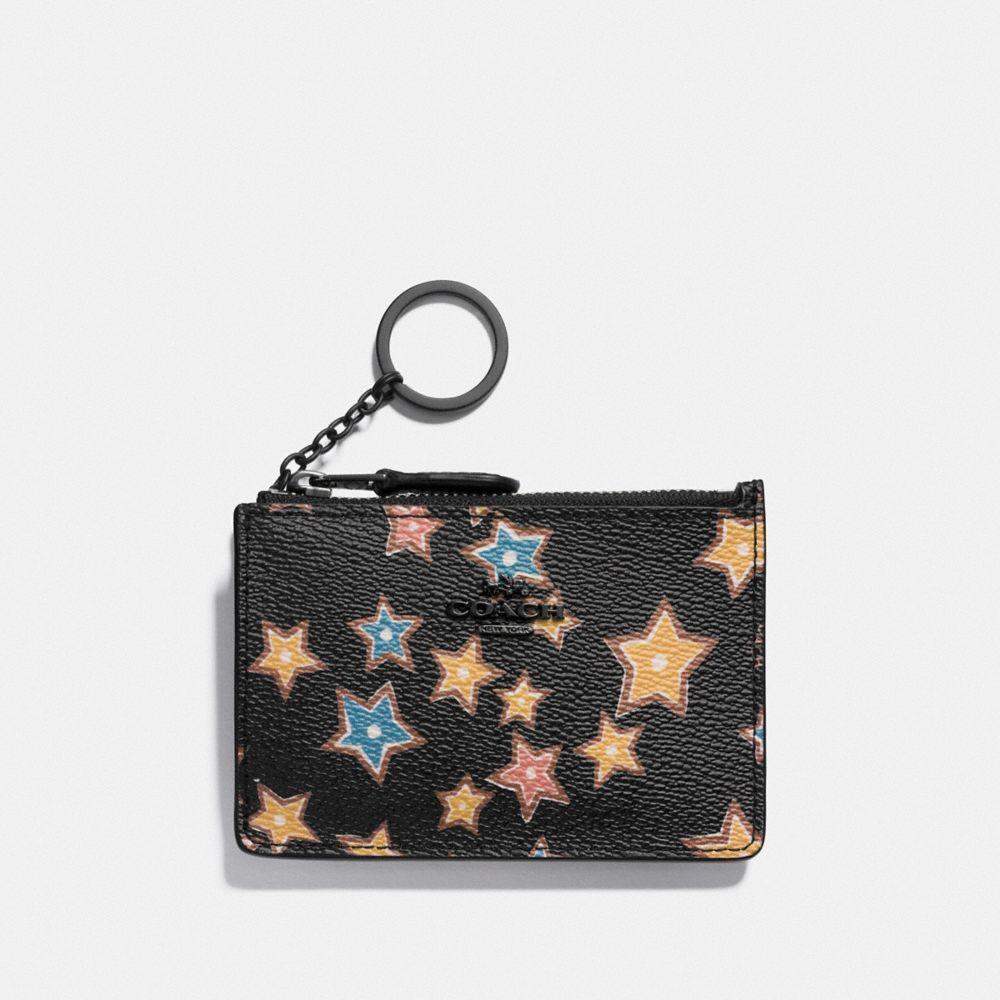 Coach Mini Skinny Id Case With Starlight Print