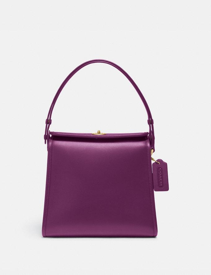 Coach Turnlock Shoulder Bag B4/Amethyst Women Bags Shoulder Bags