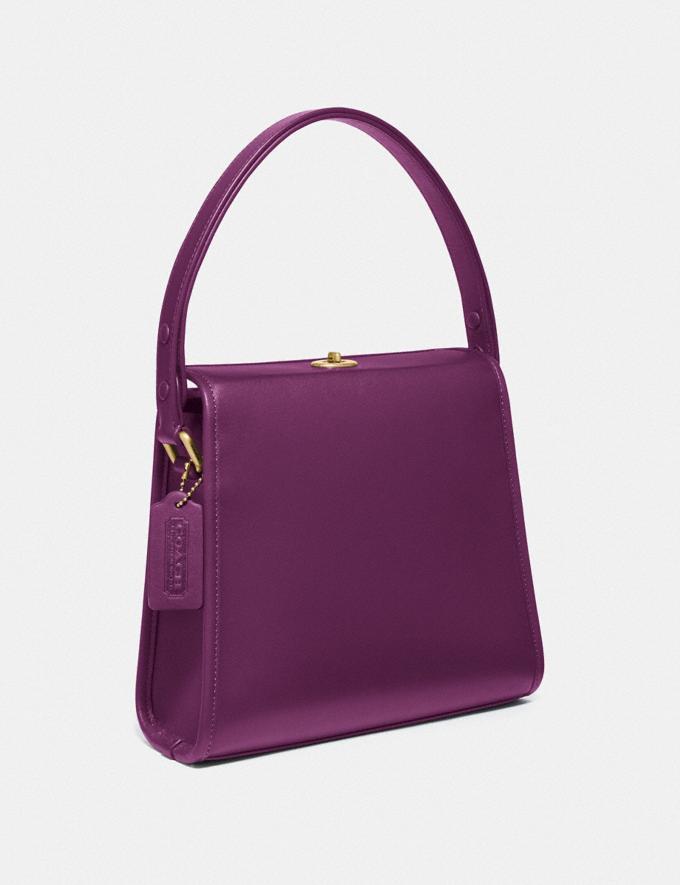 Coach Turnlock Shoulder Bag B4/Amethyst Women Bags Shoulder Bags Alternate View 1