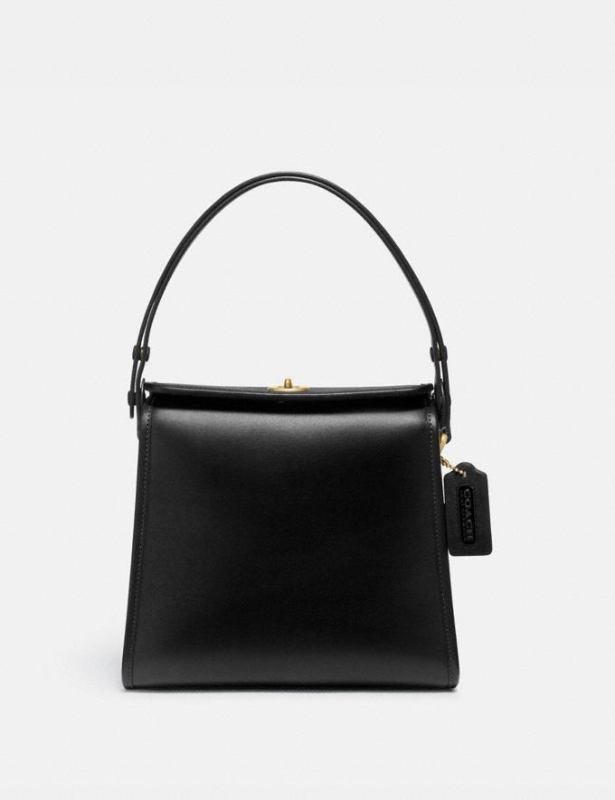 Coach Turnlock Shoulder Bag B4/Black Gifts For Her Under $500