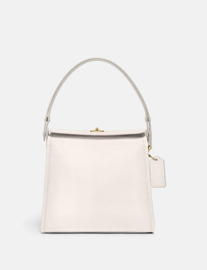 Coach Turnlock Shoulder Bag B4/Chalk Gifts For Her Under $500