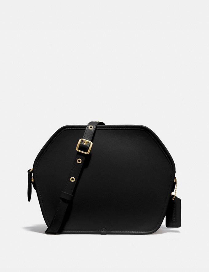 Coach Zip Geometric Pouch B4/Black Women Bags Crossbody Bags