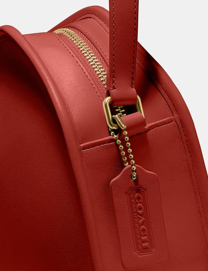 Coach Zip Geometric Pouch Brass/Carmine Women Handbags Crossbody Bags Alternate View 4