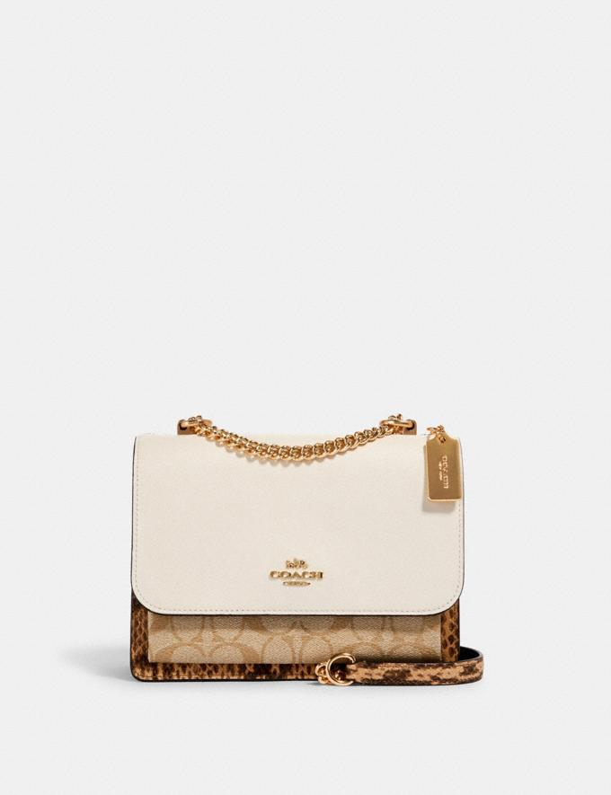 Coach Klare Crossbody in Blocked Signature Canvas Im/Khaki/ Light Khaki/ Chalk DEFAULT_CATEGORY
