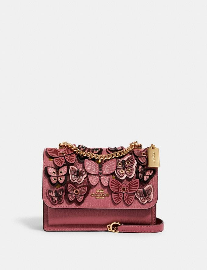 Coach Klare Crossbody With Butterfly Applique Im/Rose Multi Handbags Handbags