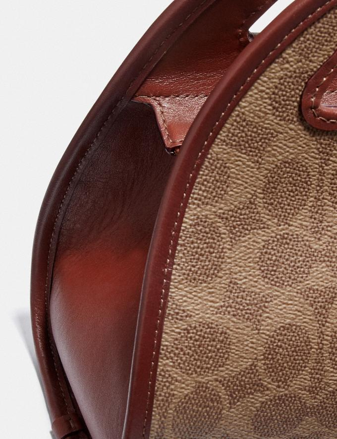 Coach Zip Dome Crossbody in Signature Canvas B4/Tan Rust VIP SALE Women's Sale Bags Alternate View 4