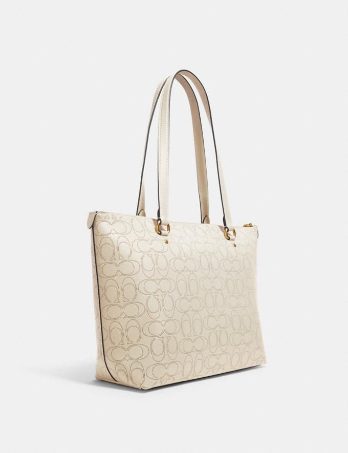Coach Gallery Tote in Signature Leather Im/Chalk Women Bags Alternate View 1