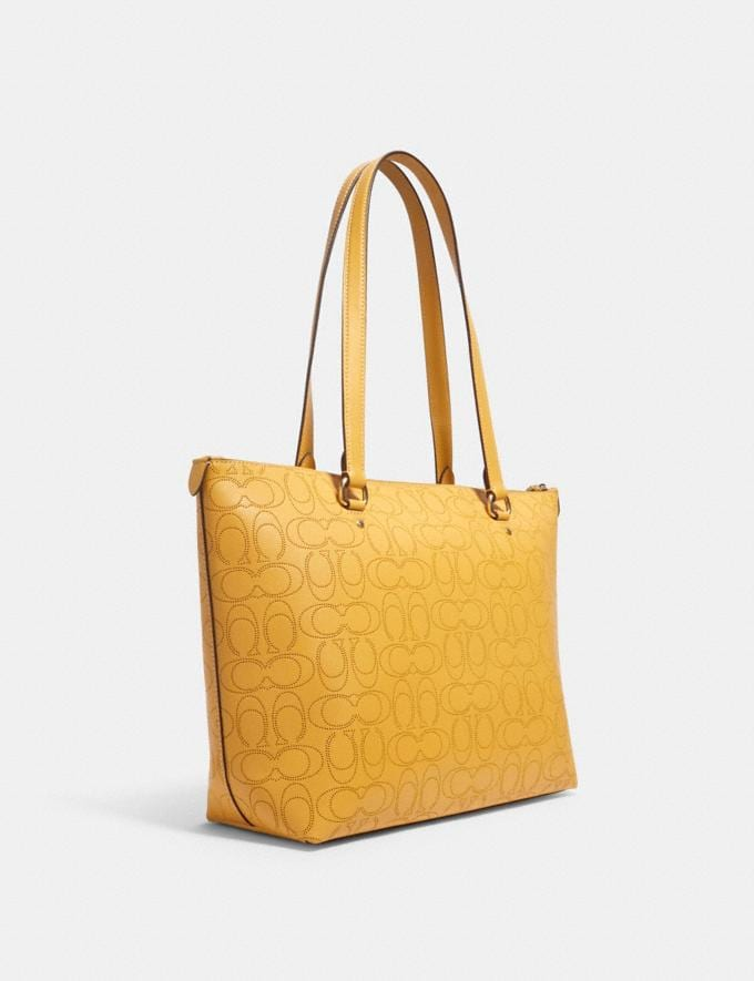 Coach Gallery Tote in Signature Leather Im/Honey Deals Best Deals of the Week Alternate View 1