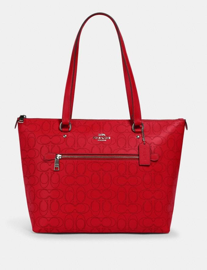 Coach Gallery Tote in Signature Leather Qb/Miami Red What's New