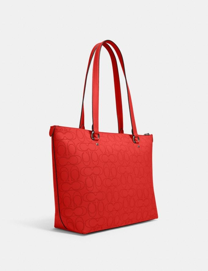 Coach Gallery Tote in Signature Leather Qb/Miami Red What's New Alternate View 1