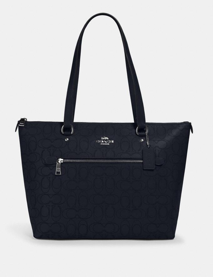 Coach Gallery Tote in Signature Leather Sv/Midnight What's New