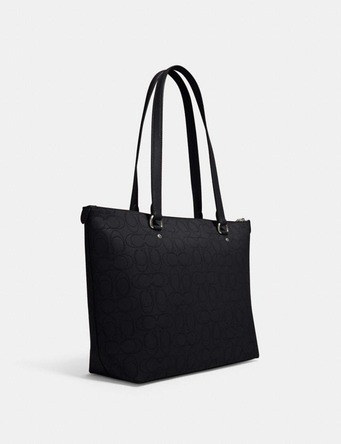 Coach Gallery Tote in Signature Leather Sv/Midnight What's New Alternate View 1