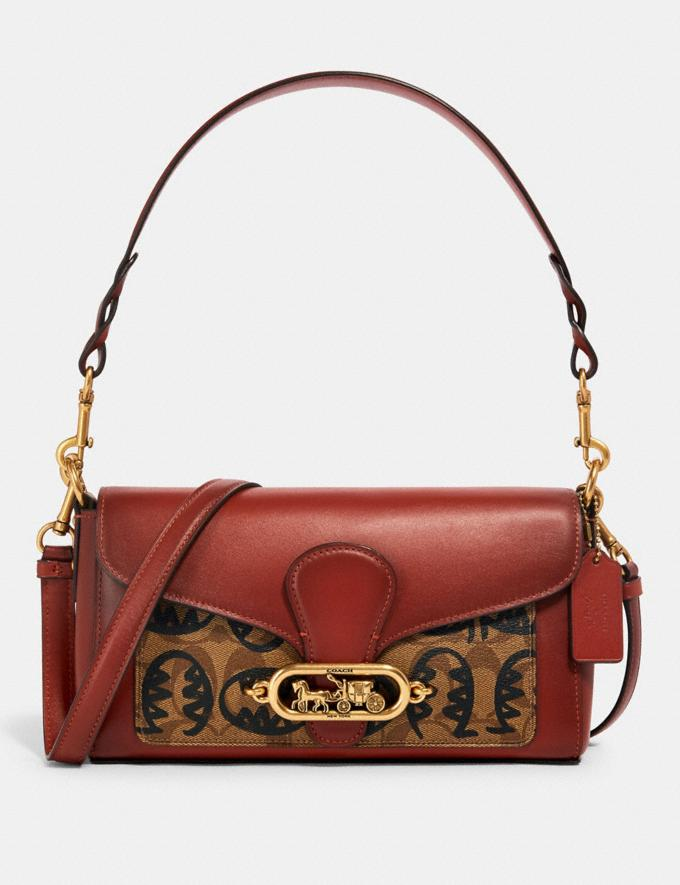 Coach Jade Shoulder Bag in Signature Canvas With Rexy by Guang Yu Qb/Khaki Multi Women Bags