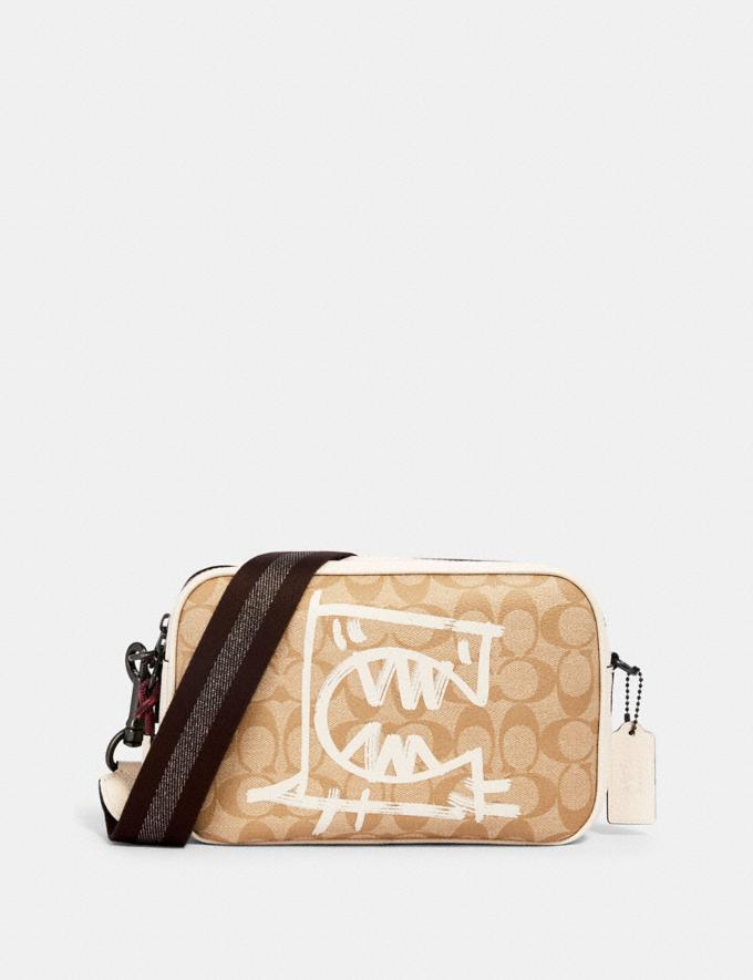 Coach Vale Jes Crossbody in Signature Canvas With Rexy by Guang Yu Qb/Light Khaki/Chalk Multi Bags Bags Crossbody Bags