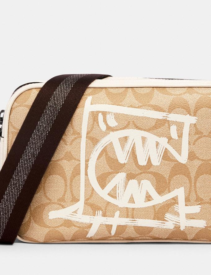 Coach Vale Jes Crossbody in Signature Canvas With Rexy by Guang Yu Qb/Light Khaki/Chalk Multi Bags Bags Crossbody Bags Alternate View 3