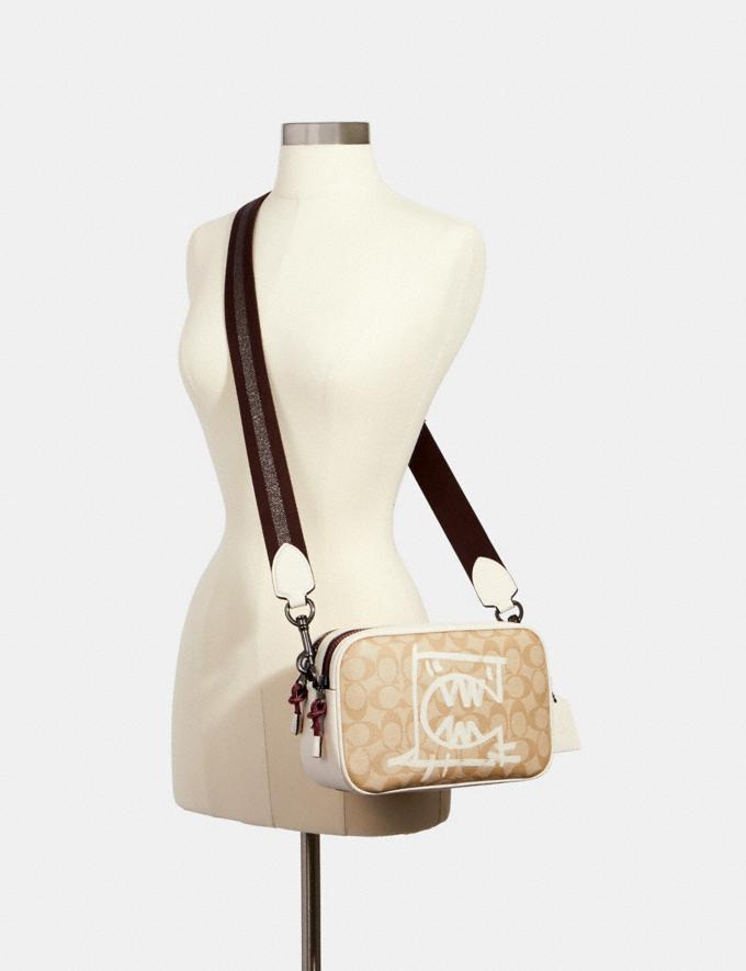 Coach Vale Jes Crossbody in Signature Canvas With Rexy by Guang Yu Qb/Light Khaki/Chalk Multi Bags Bags Crossbody Bags Alternate View 2