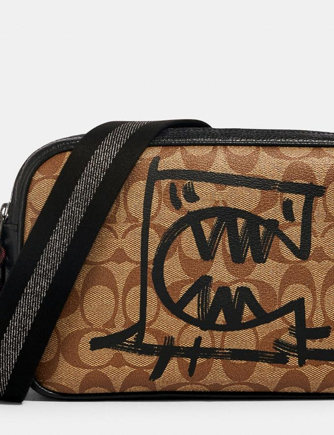 Coach Vale Jes Crossbody in Signature Canvas With Rexy by Guang Yu Qb/Khaki Black Multi Bags Bags Crossbody Bags Alternate View 3