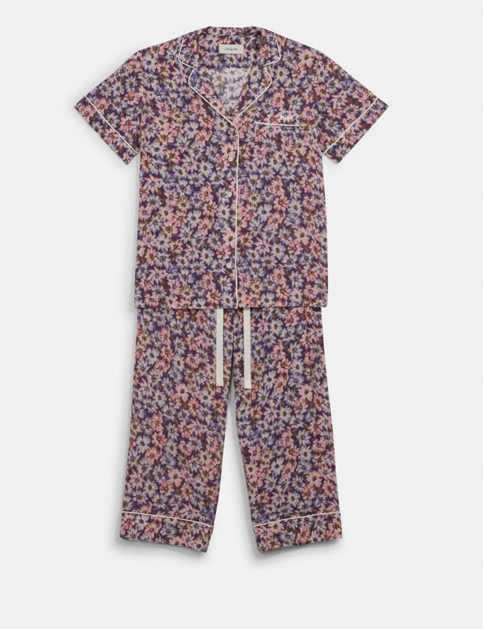 Coach Pajama Set Pink Multicolor