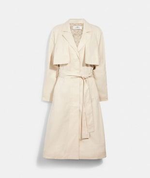 LIGHT DRAPEY TRENCH WITH SIGNATURE LINING