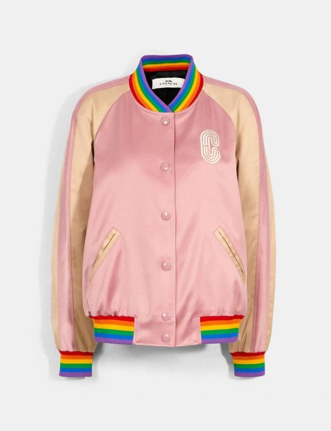 Coach Rainbow Souvenir Jacket Pearl Pink