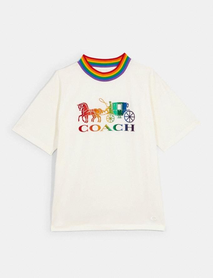 Coach Coach Rainbow Neck T-Shirt White