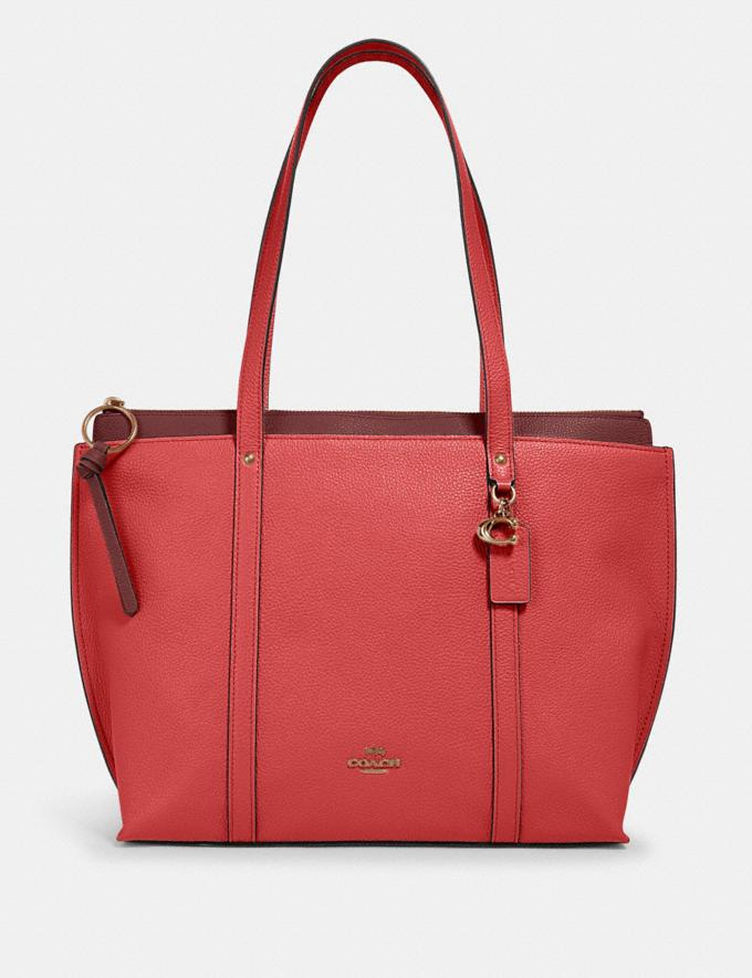 Coach May Tote Im/Bright Coral Clearance