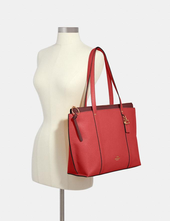 Coach May Tote Im/Bright Coral What's New Alternate View 2