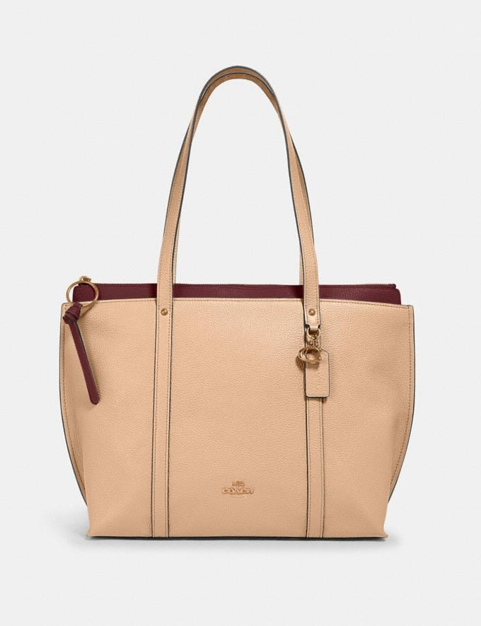Coach May Tote Im/Taupe Bags Bags Totes