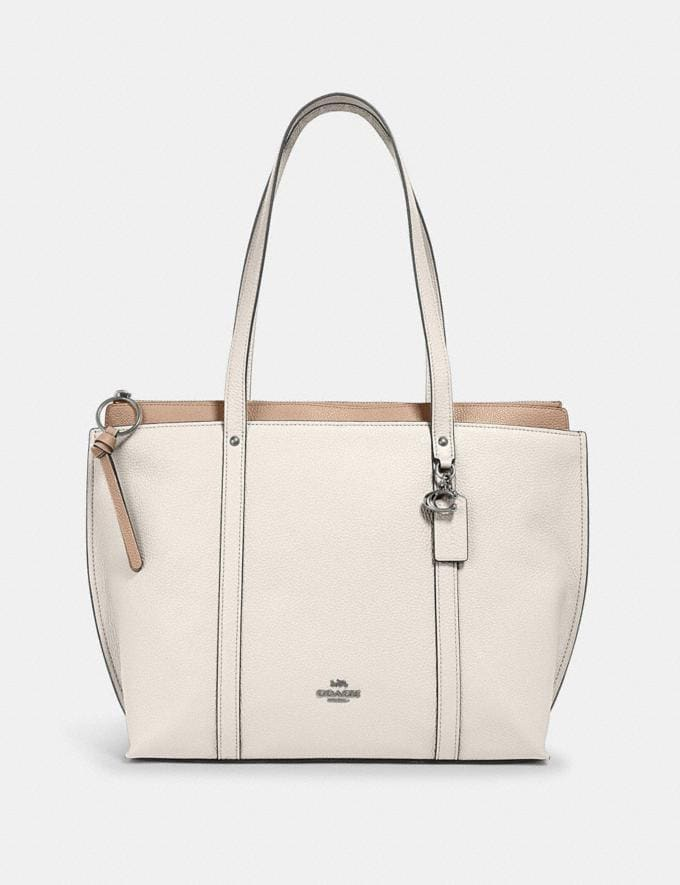 Coach May Tote Sv/Chalk Clearance