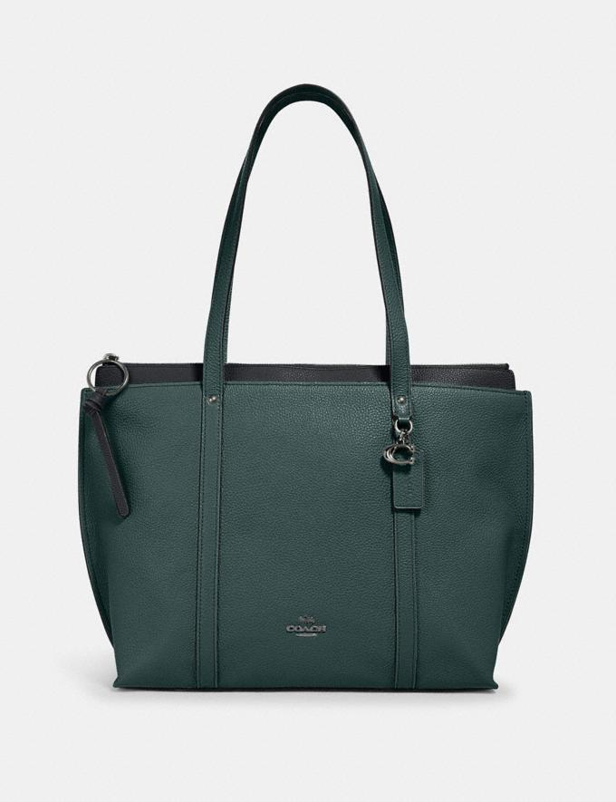 Coach May Tote Sv/Dark Turquoise Clearance