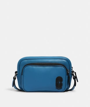 MINI EDGE DOUBLE POUCH CROSSBODY WITH COACH PATCH
