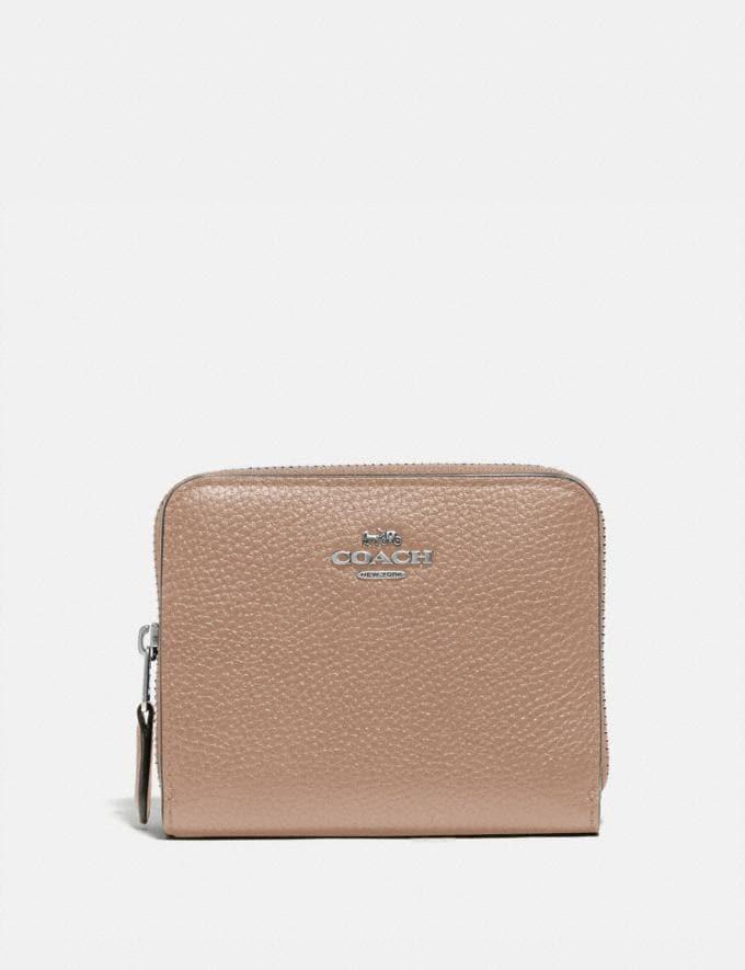 Coach Billfold Wallet Silver/Taupe Women Wallets & Wristlets Small Wallets
