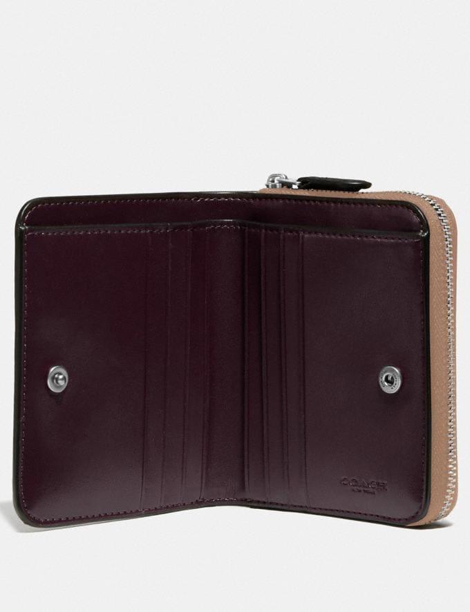 Coach Billfold Wallet Silver/Taupe Women Wallets & Wristlets Small Wallets Alternate View 1