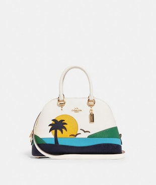 KATY SATCHEL WITH SUNSET MOTIF