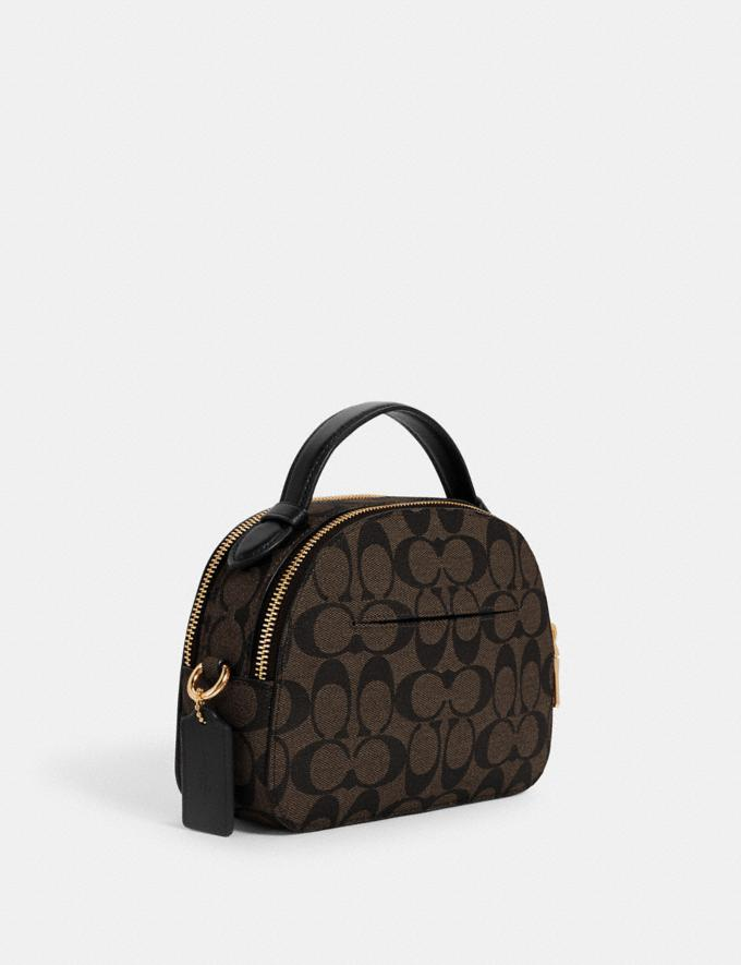 Coach Serena Satchel in Signature Canvas Im/Brown Black  Alternate View 1
