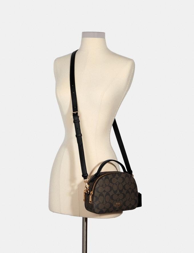 Coach Serena Satchel in Signature Canvas Im/Brown Black  Alternate View 3