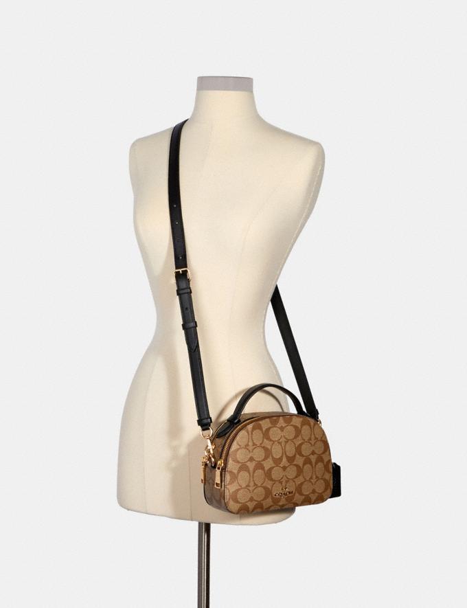 Coach Serena Satchel in Signature Canvas Im/Khaki/Black Bags Bags Alternate View 3