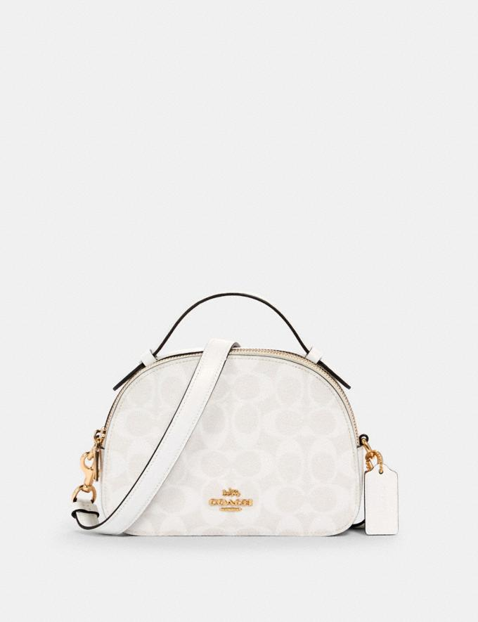 Coach Serena Satchel in Signature Canvas Im/Chalk/Glacierwhite DEFAULT_CATEGORY