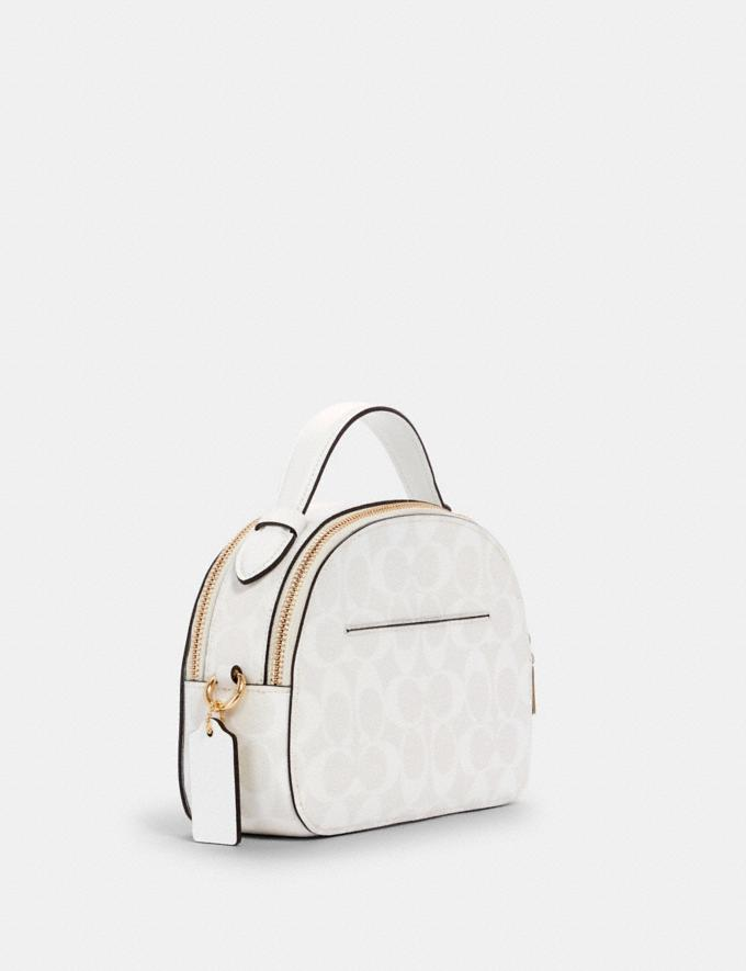 Coach Serena Satchel in Signature Canvas Im/Chalk/Glacierwhite DEFAULT_CATEGORY Alternate View 1