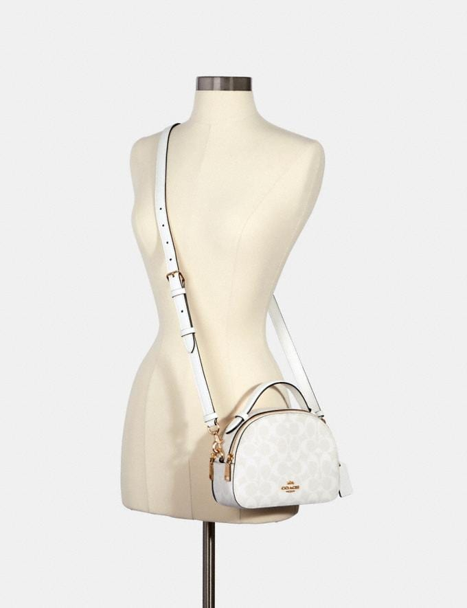 Coach Serena Satchel in Signature Canvas Im/Chalk/Glacierwhite DEFAULT_CATEGORY Alternate View 3